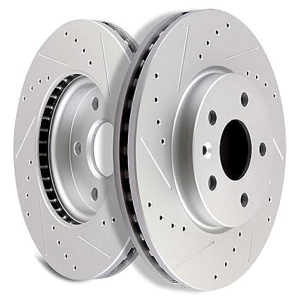 OCPTY Brake Rotors, Prime Choice Front Brake Disc Rotors Fit for 2011 2012 2013 2014