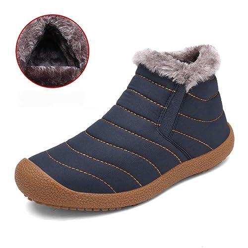 OtoñO Invierno Botas De Nieve Ocasionales Hombres Botines Impermeables Botas Antideslizantes Planas Resistentes A La Moda Hombre Zapatos CáLidos: Amazon.es: ...