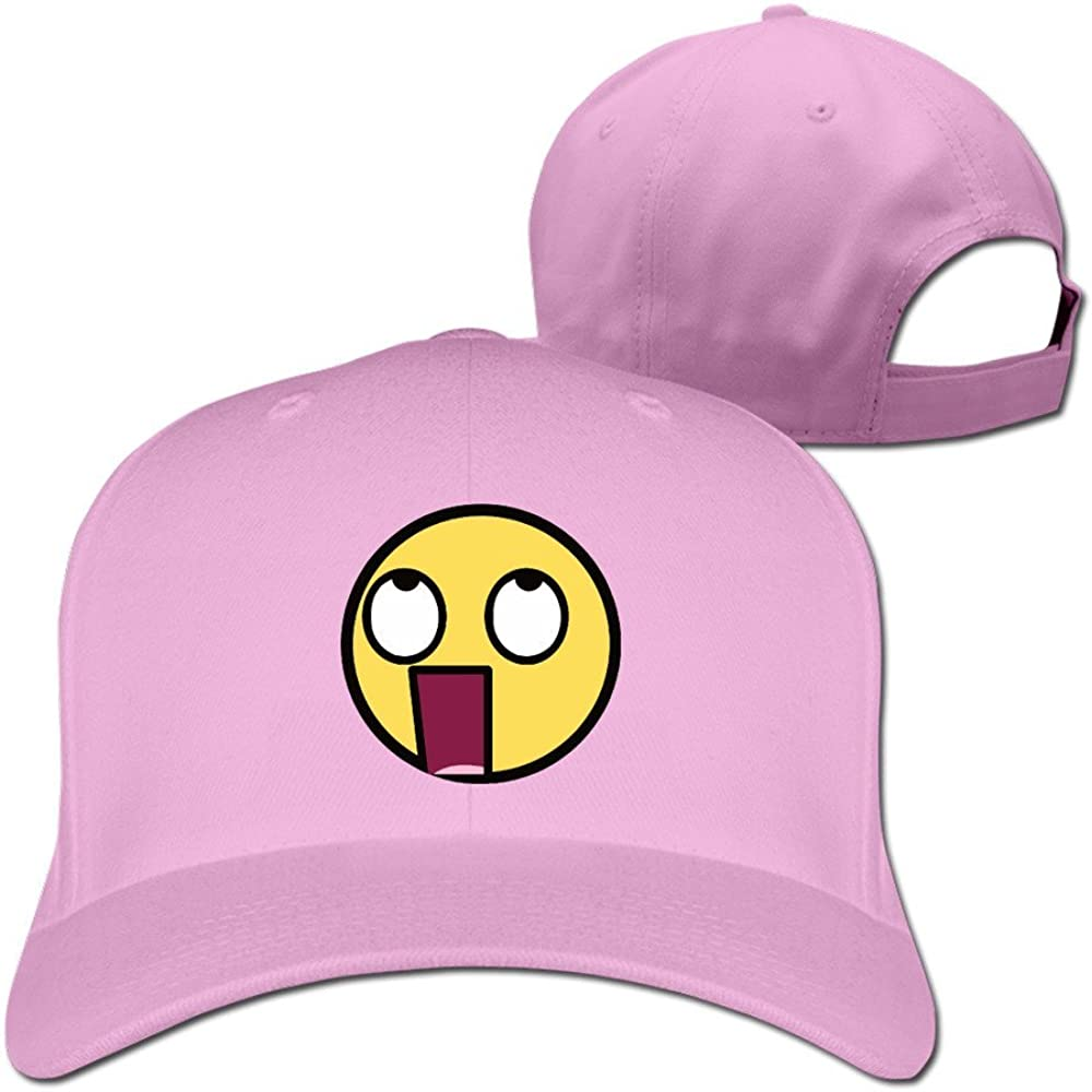 Funny Openmouthed Face Rounded Emoticon Emoji Meme Snapback Cap Hat