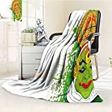AmaPark Digital Printing Blanket Asian Ritualistic Asian Ceremonial Dance Figure and Boat Summer Quilt Comforter