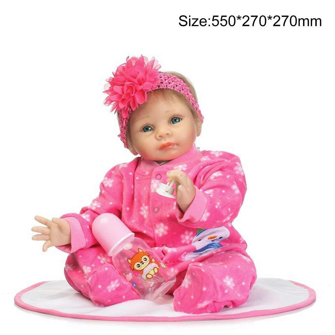 fc3bff48e463 Muñecos bebé y accesorios Fantasyworld Bebé de Silicona Lindo Rose Red de  Simulación Bebés Reborn Dolls ...