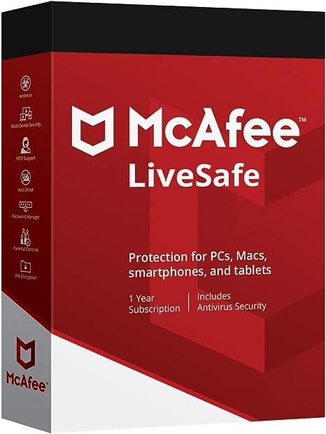 McAfee LiveSafe - Unlimited Licence: Amazon.co.uk: Electronics