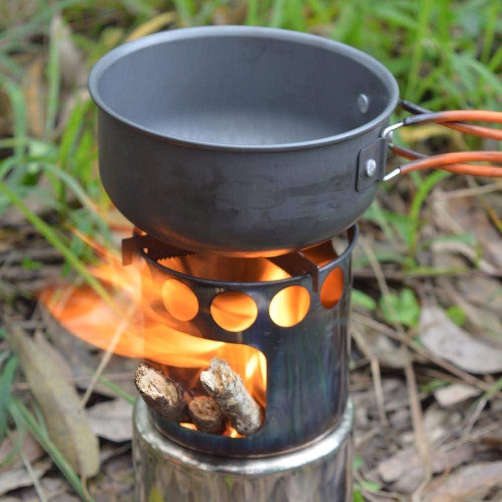 Sroomcla Hornillo de Camping de Acero Inoxidable, hornillo ...
