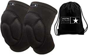 Protective Knee Pads Bounce Back Padding. Work Volleyball Wrestling Crossfit Cycling MMA Gardening DIY. Injury Recovery and Pain Relief. Teen and Adult Sizes. Non Slip All Day Star Comfort FREE BAG