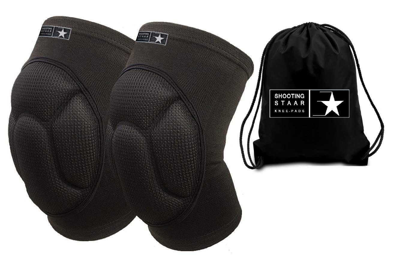 シューティングスターペア多目的ユニセックス保護膝パッド、フリーバッグ付き 衝撃を吸収する厚いスポンジのパッド入りスリーブ、100%生地が滑り止めと終日の快適さを提供します。 サイズ S/M/L/XL B07P6DGKQY  X-Large