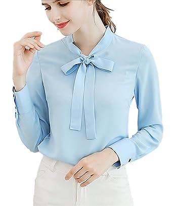 7d585796f58b99 (フムフム) fumu fumu レディースファッション トップス シャツ ブラウス 白 長袖 リボン 大きいサイズ 2XL