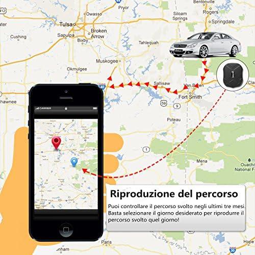 lekemi GPS Tracker Localizador para coche vehículo con libre funda ...