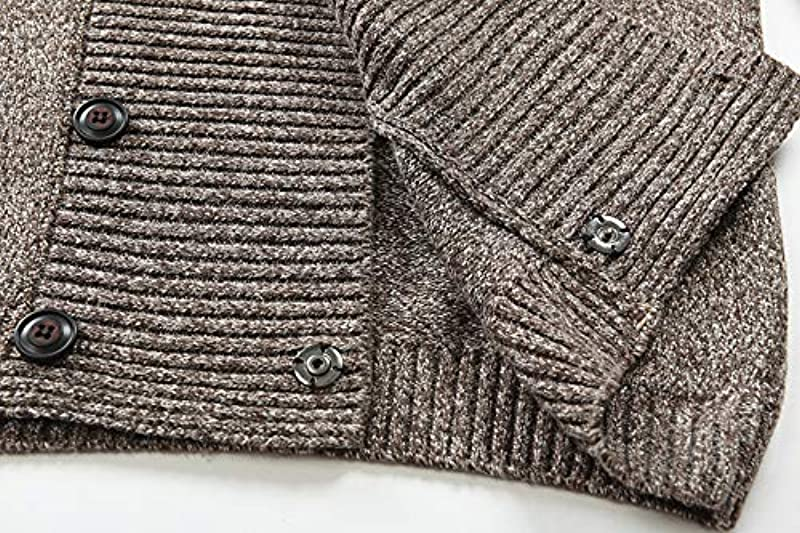 N\P Męskie Strickcardigan Pullover Herbst Winter Męskie Pullover Casual Zweireiher Cardigan Strickwaren: Odzież