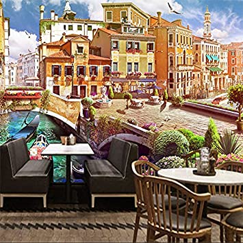 Amazhen Custom Mural 3D Wallpaper Retro City Landscape Living Room Sofa Tv Background Wall Home Decoration Wall Painting: Amazon.co.uk: Kitchen & Home