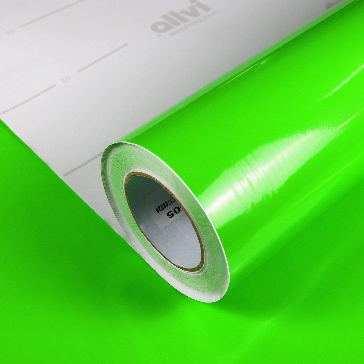 Allvi Car Wrapping Film Folie Glossy Lime Green Glanz Autofolie Limettengr/ün