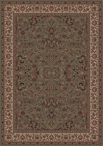 Concord Global Trading Oriental Classics Kashan Green Rug Rug Size: 5'3