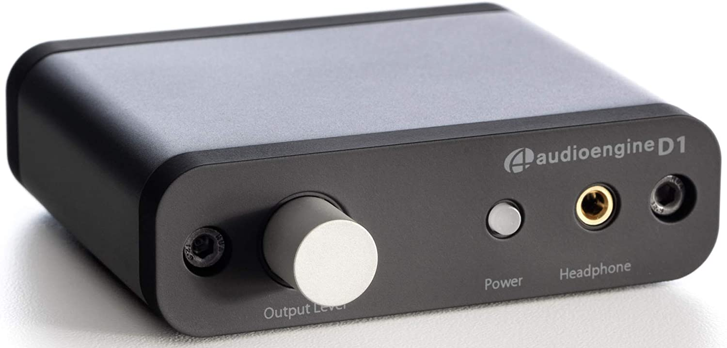 Audioengine D1 24-Bit DAC, Premium Desktop Digital To Analogue Converter and Headphone Amplifier