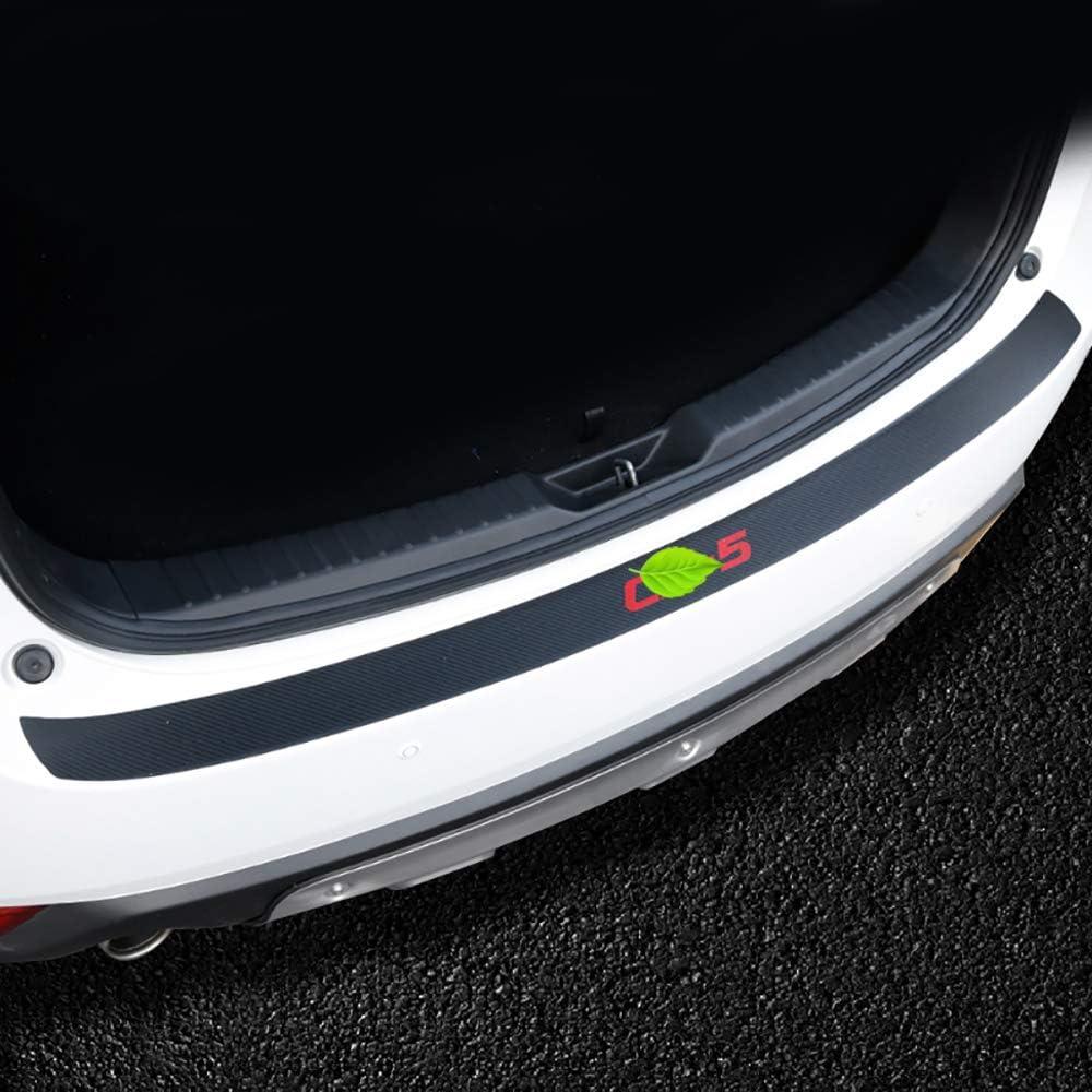 Bwen hhb7121m Car Rear Bumper Guard,Exterior Rear Door Sill Protector Leather Carbon Fiber Trunk Rear Bumper Protector Sticker for 2017 2018 2019 Mazda CX-5