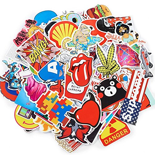 Random Stickers Pack, Vinly Laptop Stickers 50 Pcs Variety W