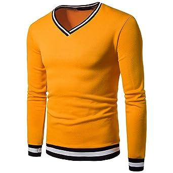 Sudaderas Hombre, ZODOF Camiseta de Manga Larga con Cremallera para Hombres Tops Blusa: Amazon.es: Ropa y accesorios