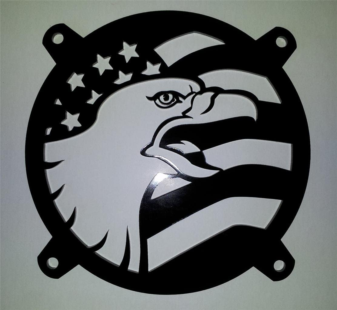 Custom Acrylic American Flag Eagle Computer Fan Grill 92mm