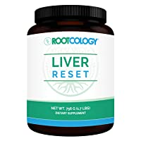 Rootcology Liver Reset - Herbal Health Supplement with Pea Protein + Vitamin B6, B12 + Milk Thistle - Natural Detox Cleanse for Liver Support by Izabella Wentz (756g / 21 Servings)