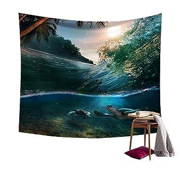 Chengsan Wandbehang, Verschiedene Motive Am Wasser, Für Schlafzimmer,  Wohnzimmer, 150 Cm Breit