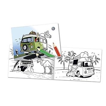 Volkswagen Original Bulli Libro para Colorear 000087703ed: Amazon.es: Coche y moto