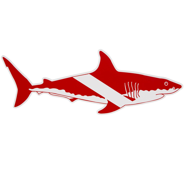 Scuba Divers Shark Sticker Size Large Scuba Dive Diving Diver Snorkel Snorkeling Surfing Shark Stickers