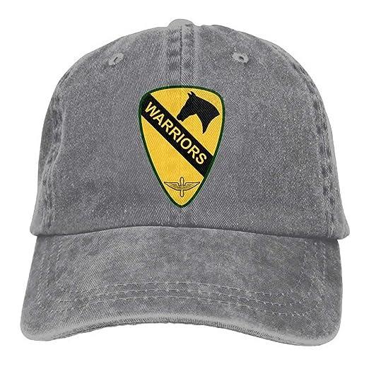 eafb88f468c Combat Aviation Brigade 1st Cavalry Division Dad Hat Adjustable Denim Hat  Classic Baseball Cap at Amazon Men s Clothing store