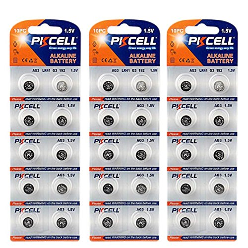 30 Pcs LR66 LR626 AG4 377 376 1.5V Watch Batteries