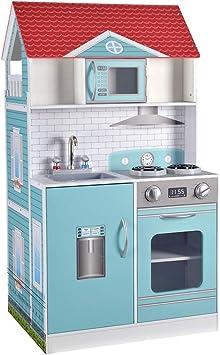 Amazon.es: ColorBaby- Cocinita de madera y casa de muñecas 2 en 1 ...