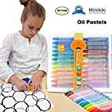 Minikiki Oil Pastels, 24 Cols Washable Crayons, Color Crayons, Oil Paint Sticks, Soft Pastels, Children Drawing Set, Smooth Blending Texture, Drawing Supplies, School Art Supplies, Great for Artists