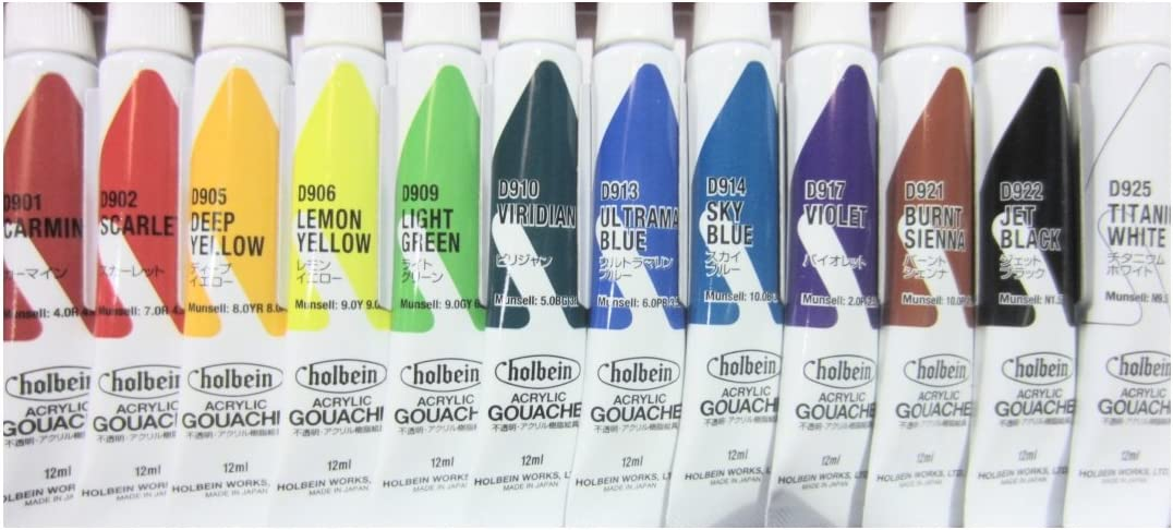 Holbein Acryla Gouache Colors School Set x 12