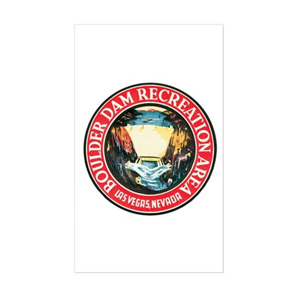 CafePress Boulder Hoover Dam Rectangle Sticker Rectangle Bumper Sticker Car Decal