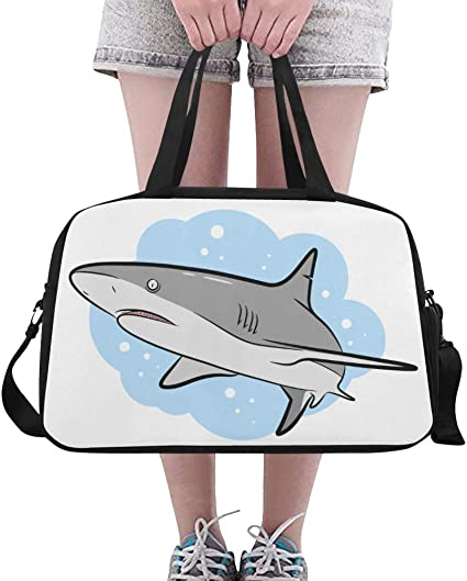 Shark Travel Carry Luggage Duffle Tote Bag