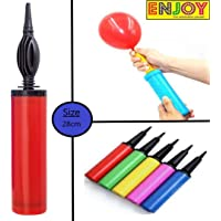 Enjoy Handy Air Balloon Pumps for Foil Balloons and Inflatable Toys Party Accessory (Set of 1,Size 27cm, Multi Color)
