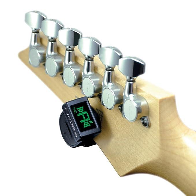 JOYO JT-306 Mini Afinador Digital LCD Clip-on para Guitarra Eléctrica Acústica Bass Violín Ukulele Cromático + Andoer® Paño de Limpieza: Amazon.es: ...