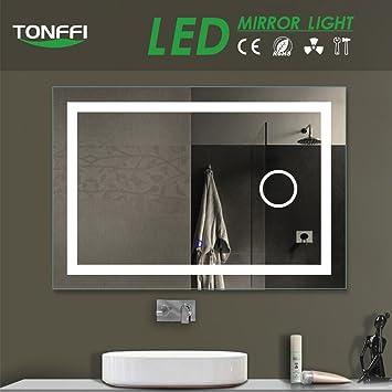 Tonffi Miroir Salle Bain avec éclairage Intégré LED 20W HD ...