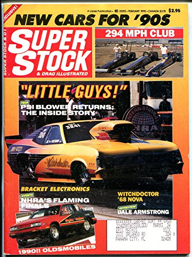 Super Stock & Drag Illustrated 2/1990-Pro Modified Nova-Mustangs-NHRA-IHRA-VG