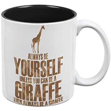 Amazon.com: Always Be Yourself Giraffe All Over Coffee Mug White ...