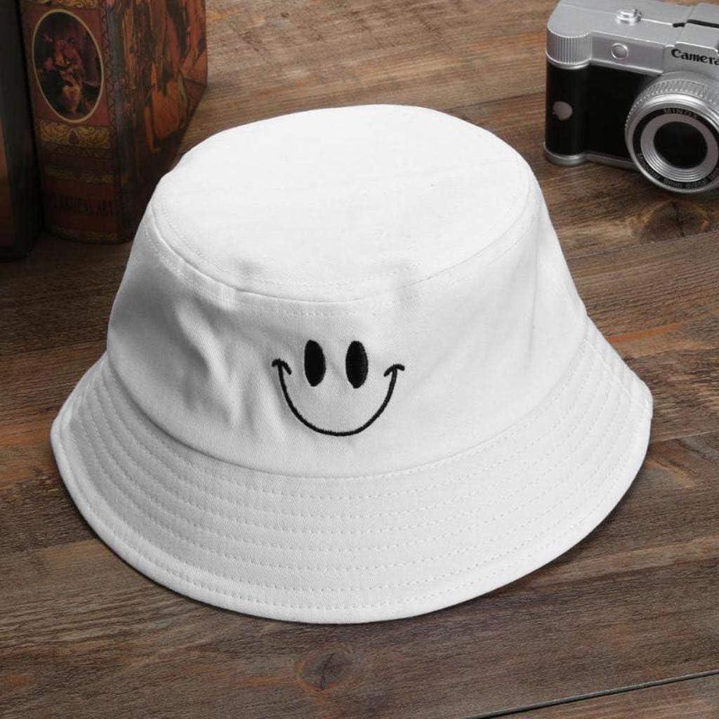 FRAUIT Sonnenhut Damen//Herren Fischerhut Buschhut Bucket Hat Ausdruck Muster M/ütze Strandhut Sommer Outdoor Fischerm/ütze