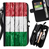 FJCases Italy Italian Wood Pattern Flag
