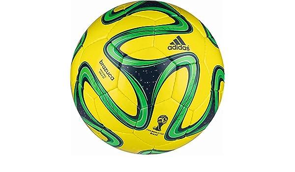 adidas Brazuca Sala 65 - Balón de fútbol (talla 5), color amarillo ...