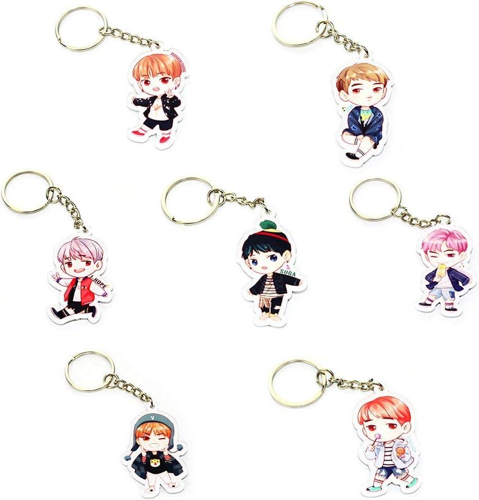 Lovely Key Chain Keyring Bangtan Boys Keychain Cartoon Acrylic Keyring Popular