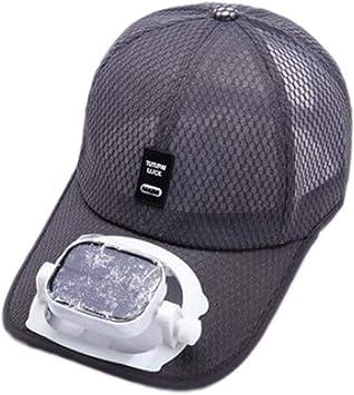 ANHPI Enfriamiento del Ventilador Sombrero de Beisbol Carga Dual USB Solar al Aire Libre Sombra Protector Solar Gorro de Viaje Deportivo, 5 Colores (Color : #5, Size : Head Circumference (56-62cm)): Amazon.es: