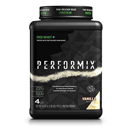PERFORMIX PRO WHEY Protein Powder with TimeRelease Amino Beads, Muscle Protein Synthesis, Strength and Recovery, 4lb, Vanilla