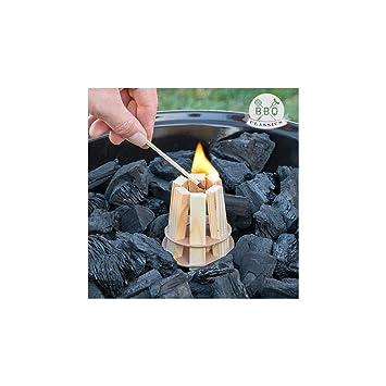 Iniciador de Fuego de Madera para Barbacoas BBQ Classics: Amazon.es: Jardín