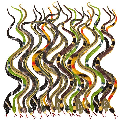 - Kangaroo's Rain Forest Toy Snake Assortment, Snake Boy Party Favors for Boys, Gag Toys, Pranks, Rubber Snake Toy Collection; Rubber Snakes