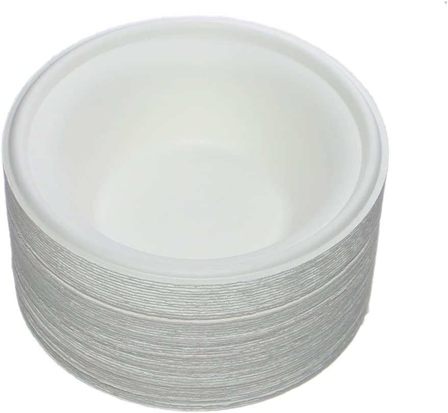Benail 50 Pack 12 oz Round Disposable Bowls Eco-Friendly 100/% Natural Sugarcane Biodegradable Compostable Bagasse Tree Free and Plastic Free