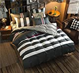 LAGHCAT 4 Piece Kids Bedding for Teens Boys Stripe Printed Christmas Bed sheet set, Full Size