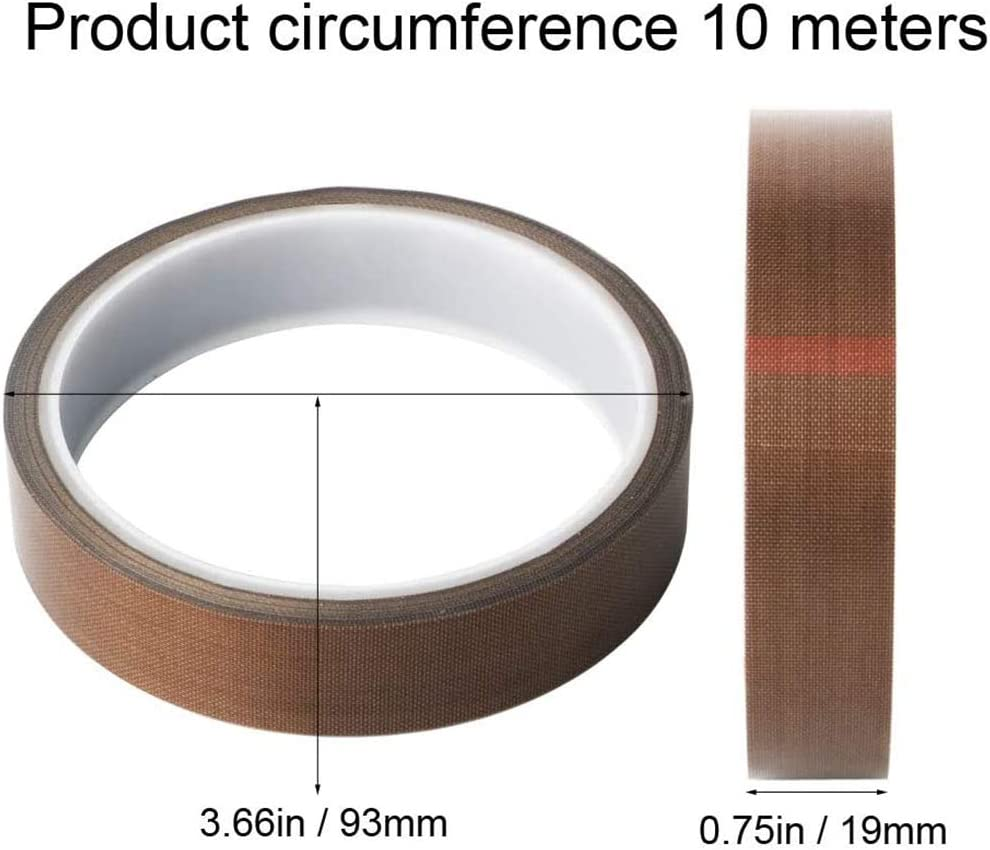 Hochtemperaturband PTFE Glasgewebeband High Temp Klebeband Hitzebest/ändig Selbstklebend Versiegelung Hei/ßsiegelung Teflonband Isolierung Von Hochtemperaturbest/ändigem