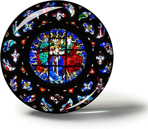 Hqiyaols Souvenir España Catedral de Santa María Barcelona Imanes Nevera Refrigerador Imán Recuerdo Coleccionables Viaje Regalo Circulo Cristal 1.9 Inches: Amazon.es: Hogar
