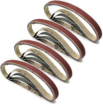 """320 Grit 60 180 70pcs 7 Grits Sanding Belts 3//8/""""x13/"""" Sander 40 120 80 100"""