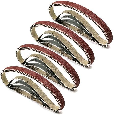 "3//8/"" x 13/"" 20 PACK 1000 Grit Aluminum Oxide File Sanding Belts 10mm x 330mm"
